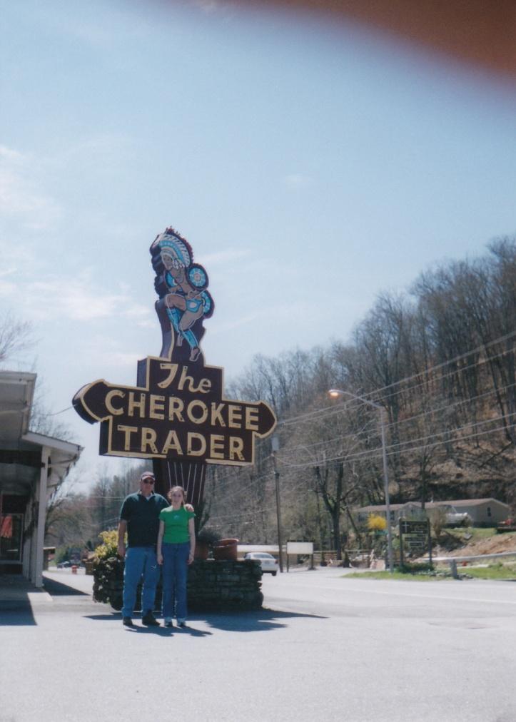 cherokee trader sign @North Carolina